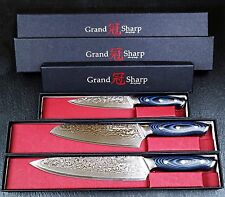 "Kitchen Knife Set Japanese Damascus Stainless Steel 8"" Chef Cutlery Butcher Pro"