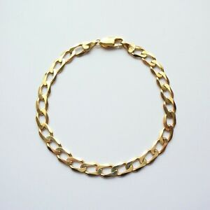 "Bracelet Chain 8"" Yellow Gold 9ct Men Boys Girls Ladies Unisex 8.65g"