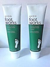 Avon Foot Works cracked heel cream Bonus size set of 2
