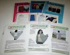 Lot of 8 knitting yarn patterns PONCHO Cover Up BUTTERFLY SCARF Hydrangea Shawl
