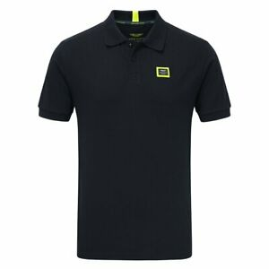 Aston Martin Racing Mens Team Travel Polo Shirt - Navy - Official Merchandise