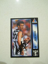 COLLINGWOOD MAGPIES - PETER DAICOS SIGNED 1994 AFL PA CARD