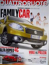 Quattroruote 697 2013 Alla guida dell'Alfa Romeo 4C. Suzuki S-Cross. VW Golf Q98