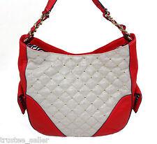 NWT Juicy Couture Gold Metallic Erin Red Siren Shoulder Hobo Bag  Purse