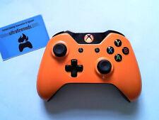 Custom Microsoft Xbox one Orange wireless controller with Orange LED