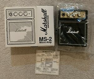 Marshall MS-2 battery powered micro stack guitar amp for parts and repair
