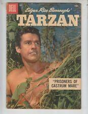 Tarzan 106 VG+ (4.5) 7/58 Dell! Gordon Scott Photo cover!