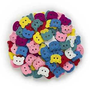 50pcs Tiger Shape Wood Buttons for Sewing Scrapbooking Cloth Home Making Decor