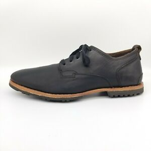 Timberland Bardstown Men's 11 Black Shoe Leather Plain Toe Casual Oxford