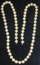 Vintage JEWELRY Parts or Repair Strand Necklace Faux Pearl Knotted beads 24""