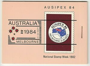1984 AUSTRALIA STAMP BOOKLET 'AUSIPEX 84' - (RIGHT STAPLE) BOOKLET of AAT SHIPS