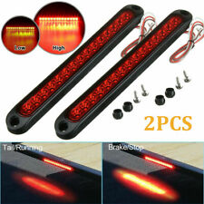 2X 10inch 15 Led Red Sealed Trailer Truck Rv Stop Tail Rear Brake Turn Light Bar