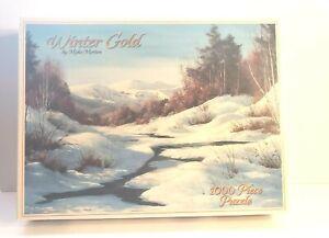 Puzzle Winter Gold 1000 PC BY Myke Morton NIB