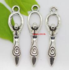50pcs auspicious Tibet Silver master of sports Jewelry charms Pendants 29x7mm
