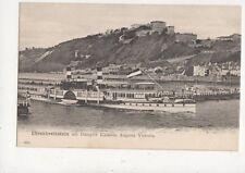 Ehrenbreitstein Mit Dampfer Kaiserin Augusta Victoria Steamship Postcard 859a