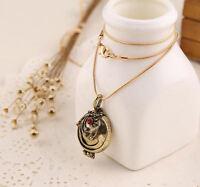 Vampire Diaries Elena Gilbert Antique Gold Locket Pendant Necklace Gift UK Stock