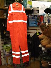 """Tecwear Orange Hi Viz High Visibility Boilersuit Overalls Coveralls 42"""" 108cm R"""