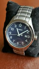 Mens Timex Indiglo Watch Military Style WR50m All Stainless T Series T2M464 New