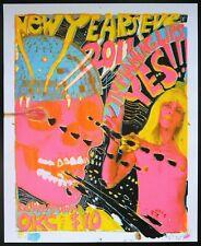 Flaming Lips Oklahoma City New Year's Eve Wayne Coyne SIGNED Silkscreen Poster