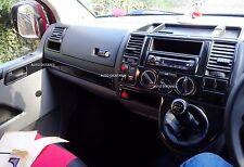 VW Transporter T5  Right Hand Drive Dash Trim Kit Black Effect 2003-2009