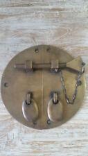 Brass Reproduction Oriental Door Latch Pin Lock 9cm