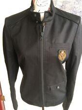 Nuevo Para Hombre de la chaqueta de abrigo Trench Negro Compacto Kooples 44 Diseñador BNWT militar