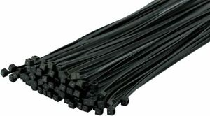Cable Ties Black Strong Tie Wraps Nylon | Heavy Duty | Freepost