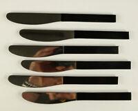 6 Vorspeise Messer Rosenthal Duo schwarz Carl Auböck Design Besteck