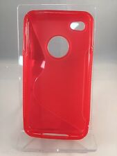 Brand New  - Red Soft Shell Gell Apple iPhone 4 4S Mobile Phone Case