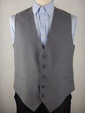 "Vtg Mens Plain Navy Blue Grey Reversible Waistcoat Vest Size 44"""