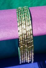 Cut Gold Layered Semanario Bangles Bracelets Oro Laminado 7 2mm