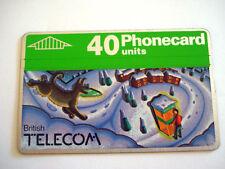 PHONECARD TELECARTE BRITISH TELECOM CHRISTMAS NOEL