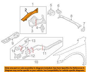 VW VOLKSWAGEN OEM 16-18 Passat FENDER-Rail Reinforcement Left 561809145A