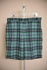 NIKE Golf Tour Performance Shorts Black Gray Green Plaid Men's size 36 EUC