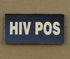 """IR Infrared Reflective Patch for NVG """"HIV POS"""" with VELCRO® brand hook"""