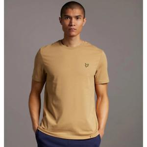 Lyle & Scott Mens Plain Crew Neck T-Shirt Tan Brown