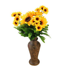 Home Wedding Artificial Silk Fake Sunflower Head Hair Flower Party Floral Decor