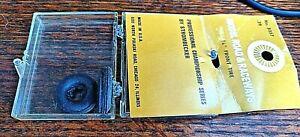 """Strombecker No. 8357  3/4"""" OD x 3/8"""" rim 7/32"""" wide.  Soft rubber rib tread."""