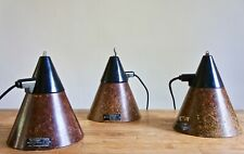 VINTAGE INDUSTRIAL GERMAN FIBRE PENDANT LAMPS