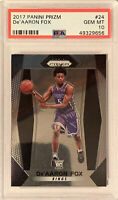 2017 Panini Prizm De'Aaron Fox Rookie RC #24 PSA 10 GEM MINT