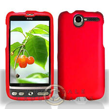 HTC ADR6275 Desire Shield Red Rubberized Cover Shell Protector Guard Shield Case
