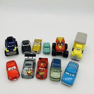 Disney Cars Lot of 11 Assorted Die Cast Pixar Loose Mattel Lightning McQueen