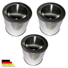 3 boîtes en fer blanc carburant 0,25 litres et 3 Sauvegarde plaques d acier inox