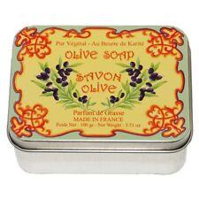 Savon Le Blanc Natural Olive Oil Soap in Olive Tin - 3.5oz