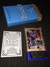SCOREBOARD ANFERNEE PENNY HARDAWAY SIGNED CARD LOT #851/3500 ACRYLIC HOLDER COA