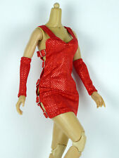1/6 Scale Cy Girl, Kumik, Hot Toy, ZC, LM - Female Red Sequence Mini Strap Dress