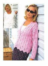"Knitting Pattern Ladies Lacy Cardigan *COPY* PATTERN ONLY 32-42"" DK #sir570"