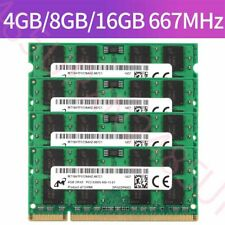 For Micron 16GB 8GB 4GB 2GB 1GB DDR2 PC2-5300S 667MHz 1.8V SODIMM RAM Laptop Lot