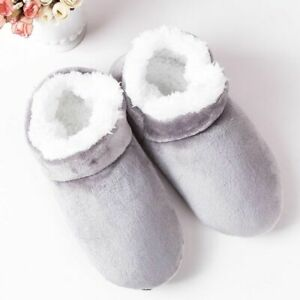 House Winter Slippers for Men Suede plush floor Shoes Lazy shoes soft warm Socks
