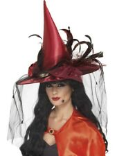 Witch Hat Adult Womens Smiffys Fancy Dress Costume Hat